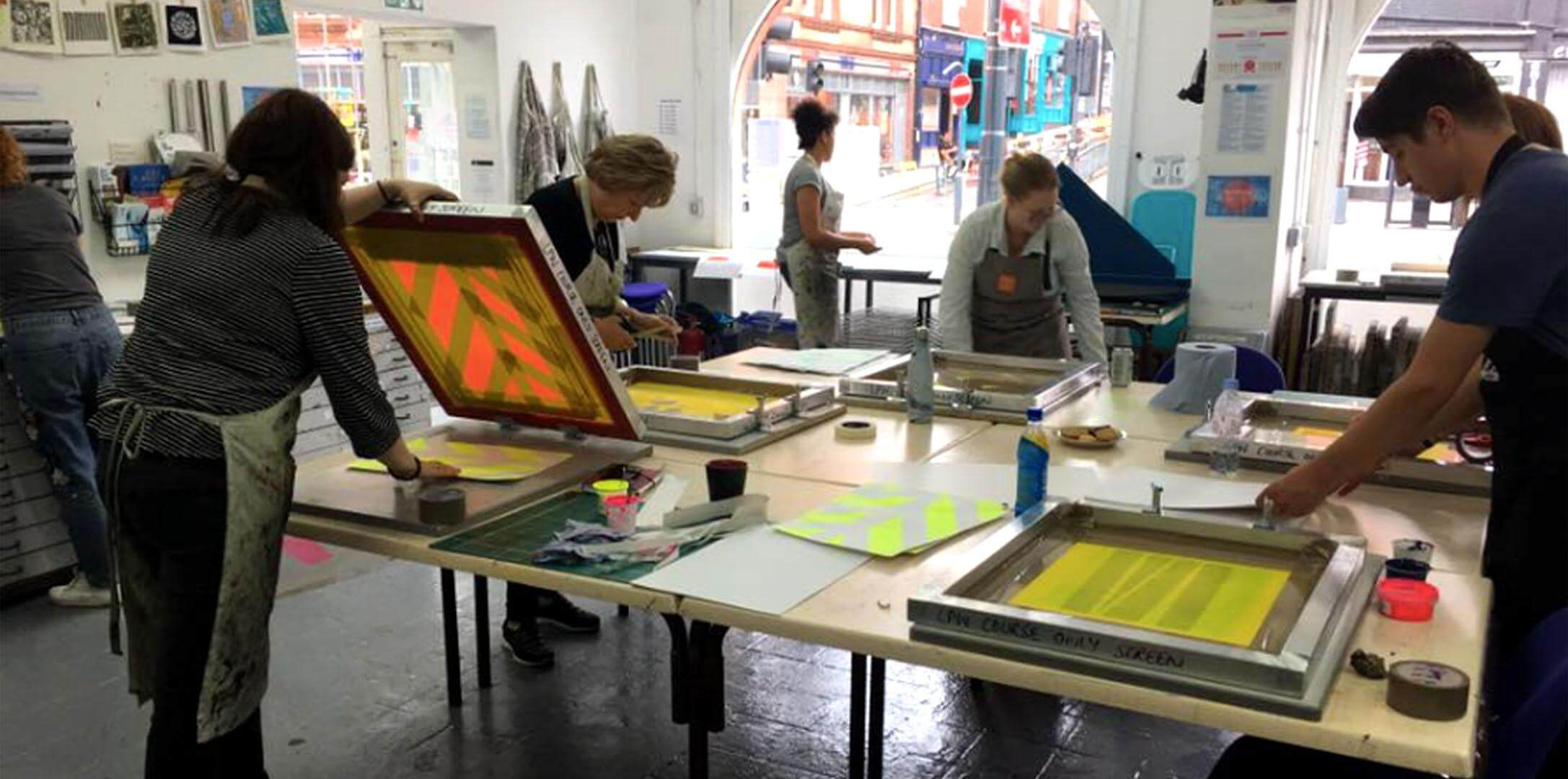 Paper Screen Printing – 5 Week Evening Course