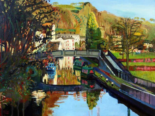Canal boats old mill