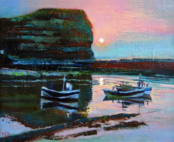 Dusk at Staithes