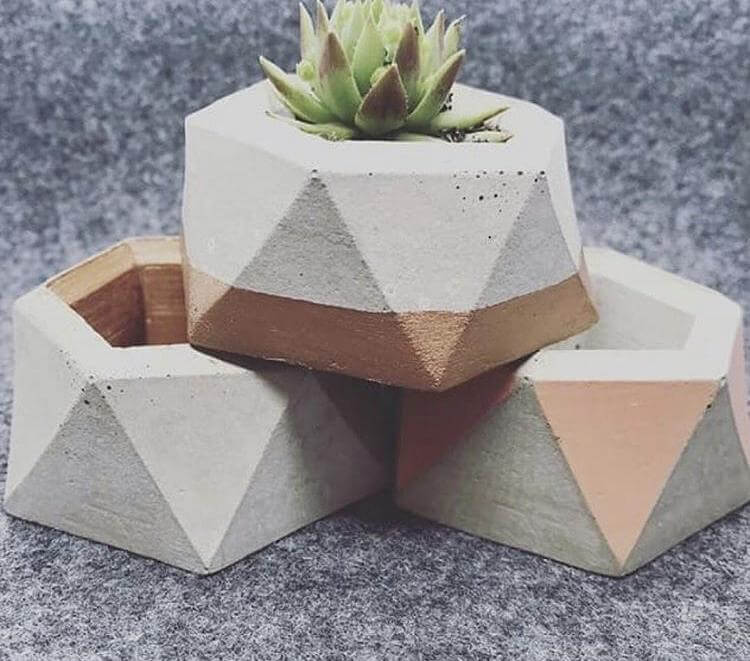 Mini Concrete Planter workshop with Plastic Violet