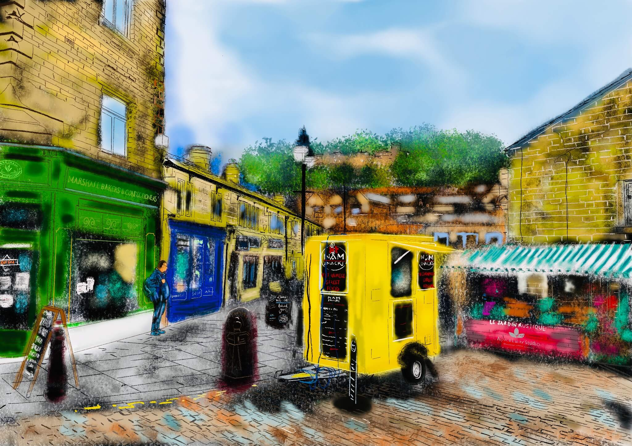 Hebden Bridge town centre